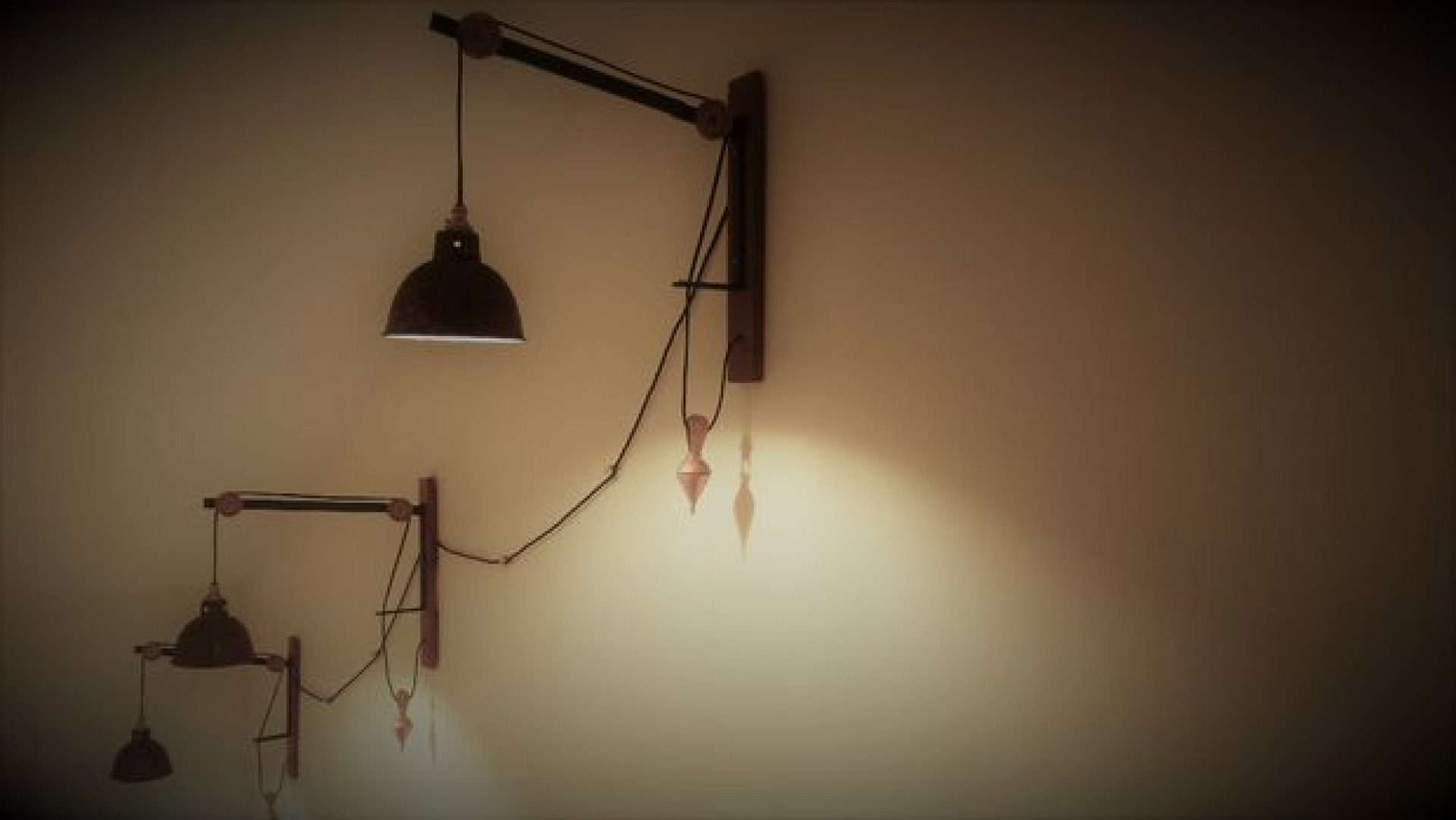 Rustic Vintage Rope Wall Lamp
